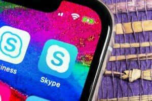 Ícone do Skype em iPhone