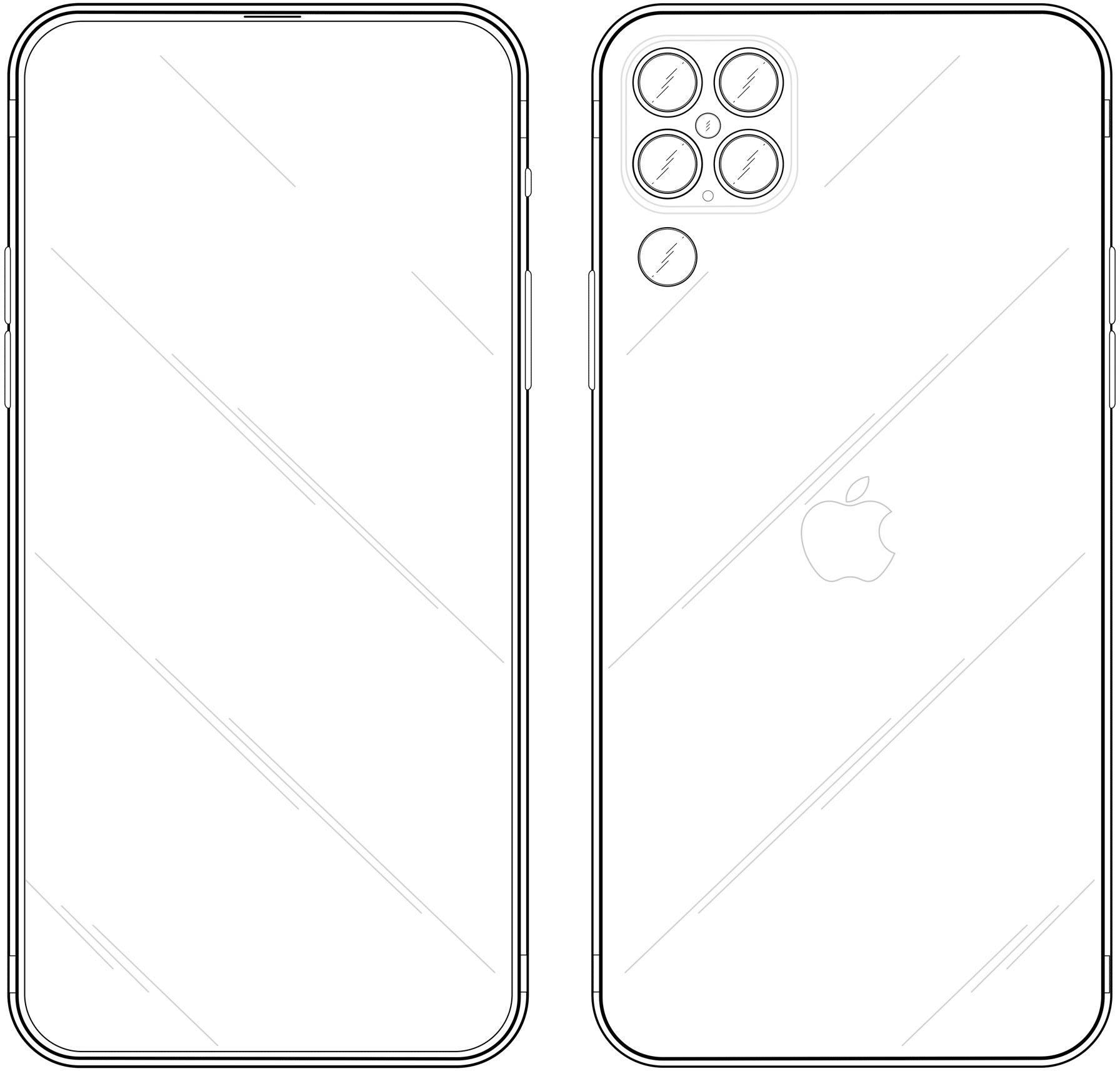 """Esquema técnico do """"iPhone 13"""""""