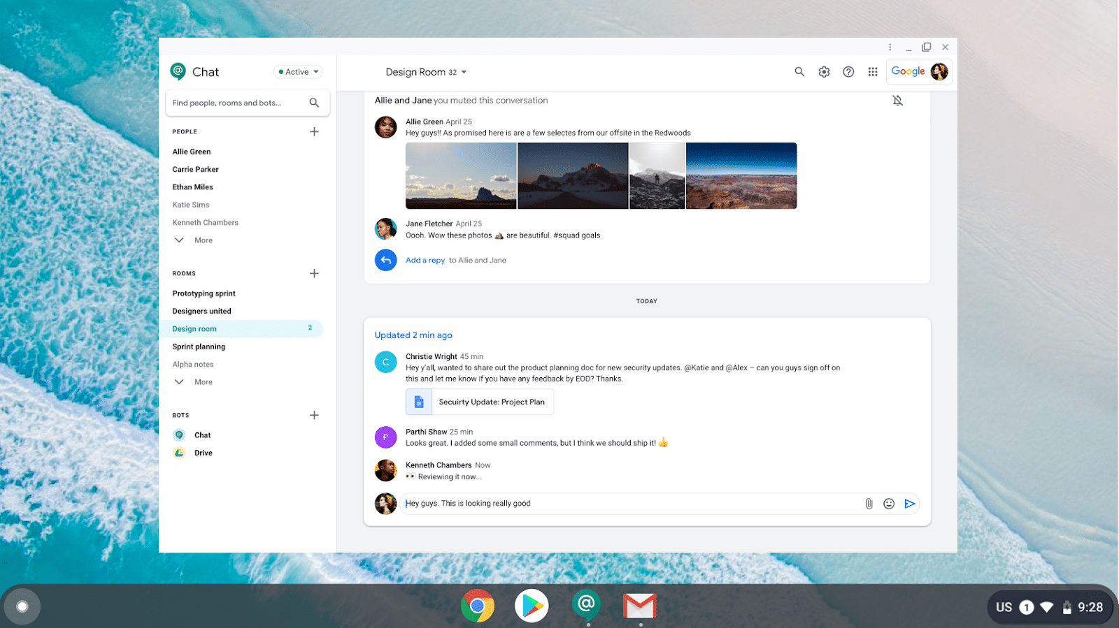 Novo app do Google Chat para desktop