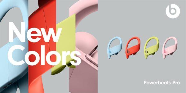 Novas cores dos Powerbeats Pro
