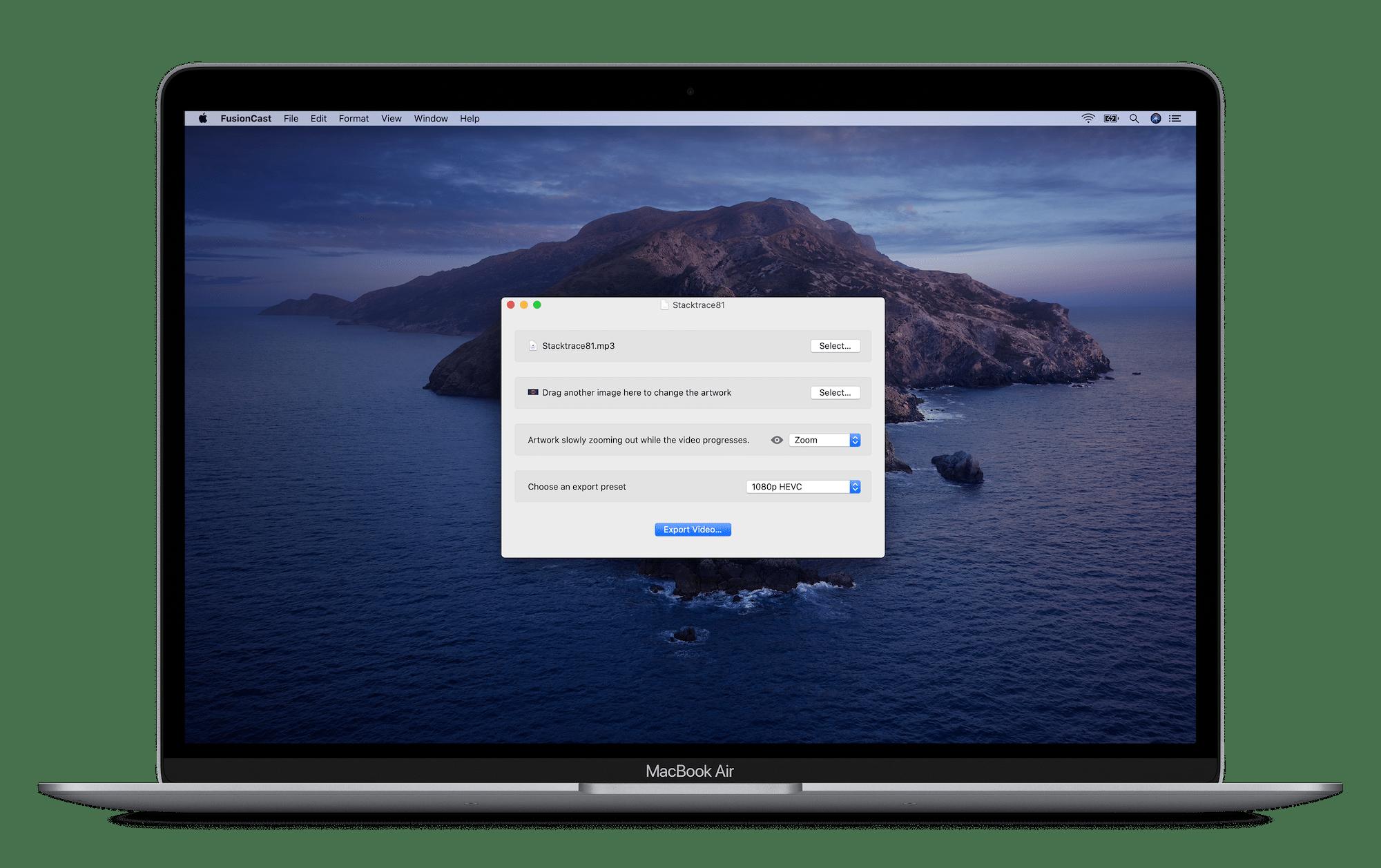 FusionCast para macOS