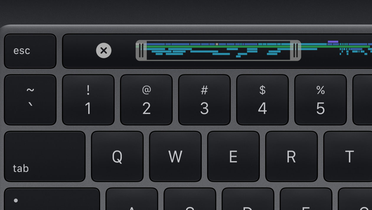Touch Bar do novo MacBook Pro de 13 polegadas