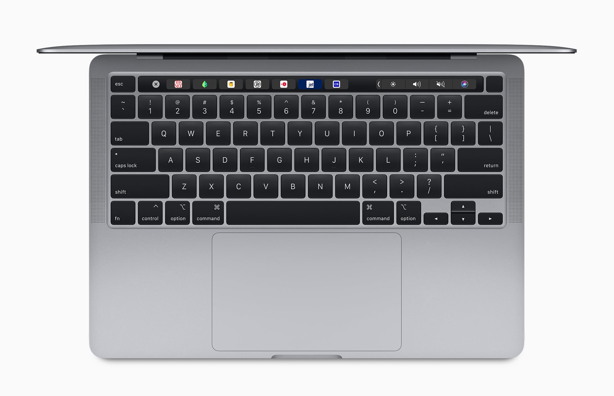 Magic Keyboard do novo MacBook Pro de 13 polegadas visto de cima