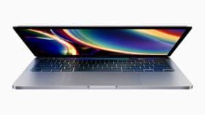 Novo MacBook Pro de 13 polegadas com a tela abrindo