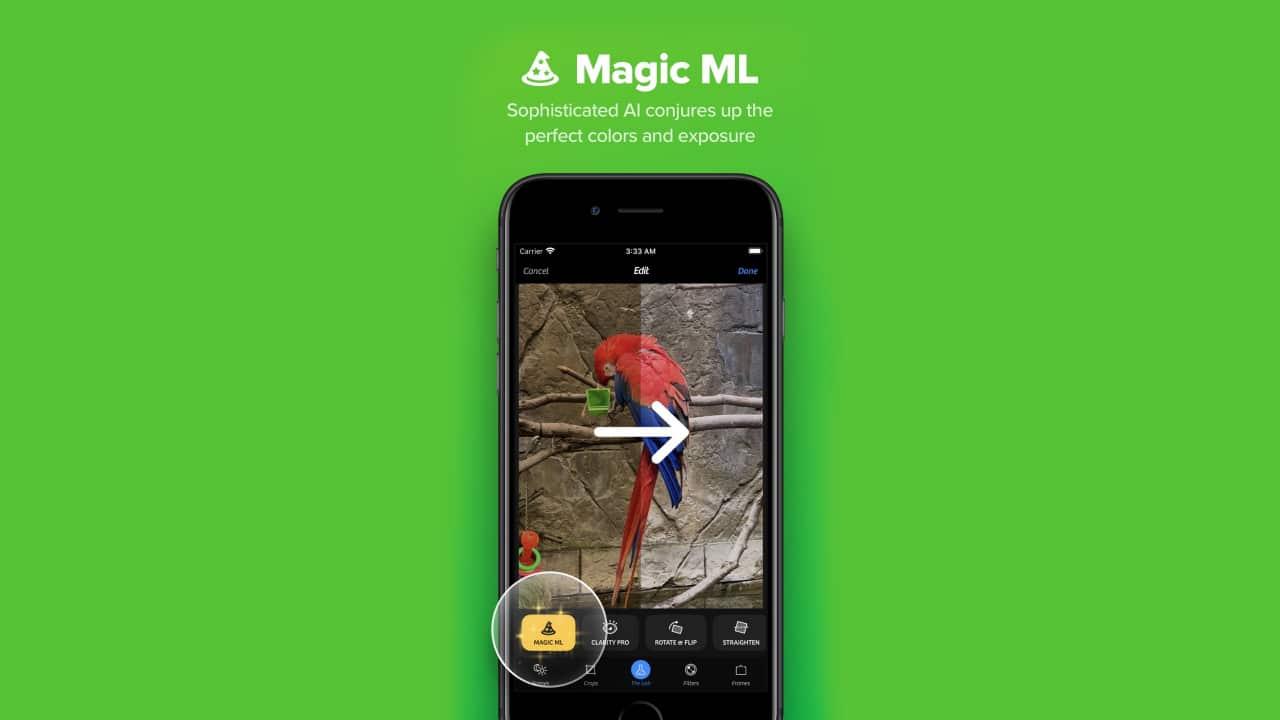 Magic ML do Camera+ 2