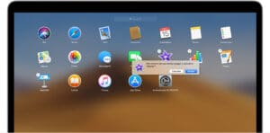 Apagando app pelo Launchpad no macOS
