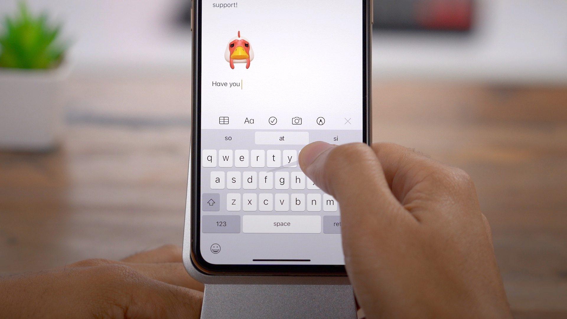 QuickPath no iPhone