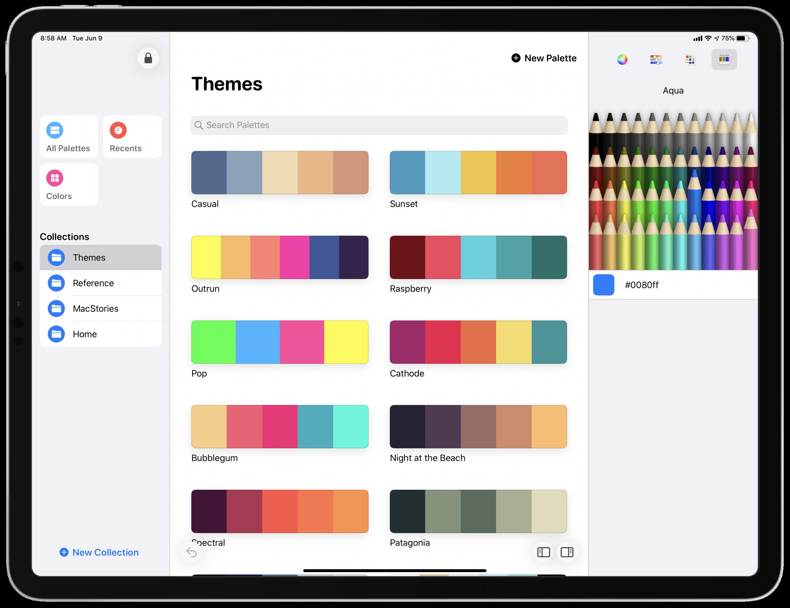 App Pastel no iPad