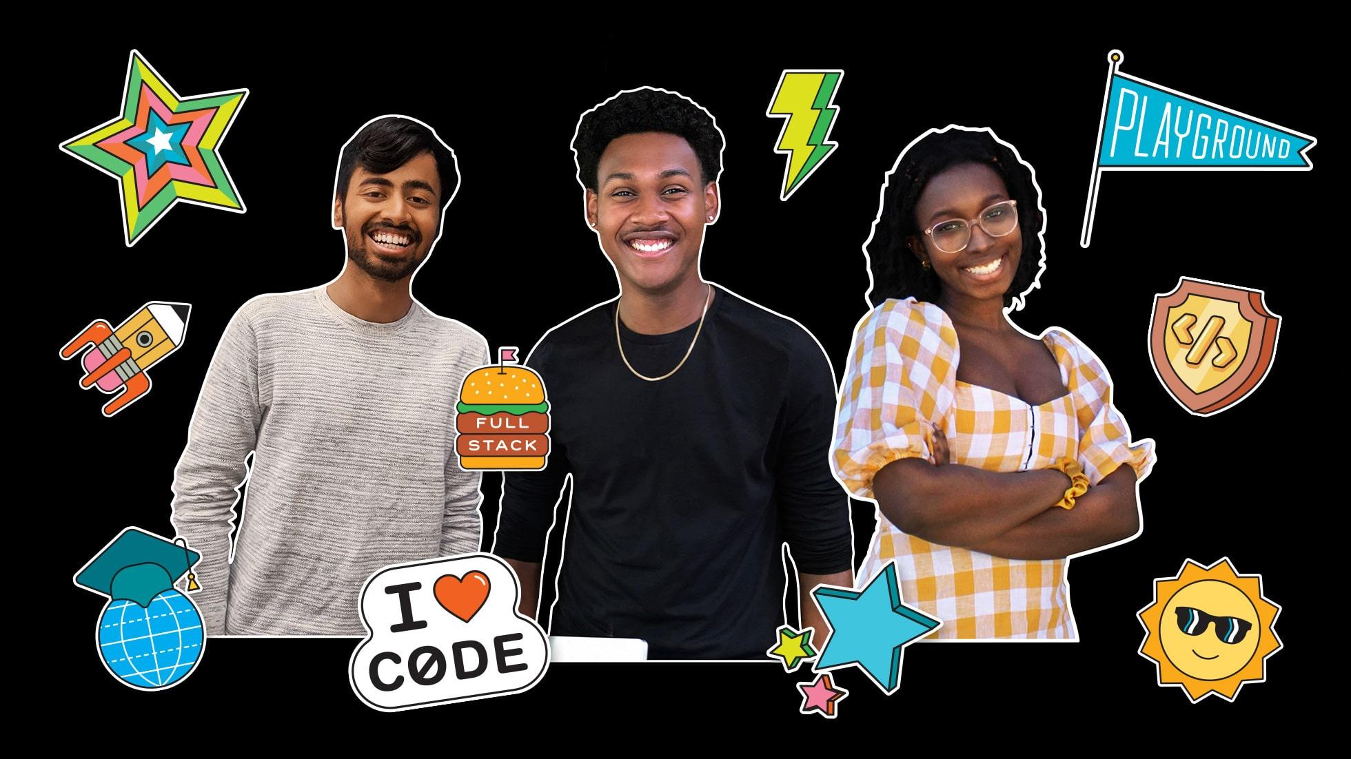 Estudantes vencedores do desafio da WWDC20