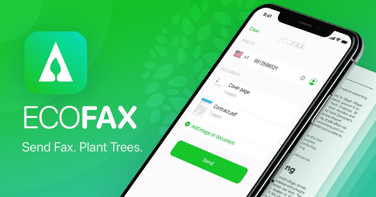 EcoFax, aplicativo para mandar fax pelo iPhone