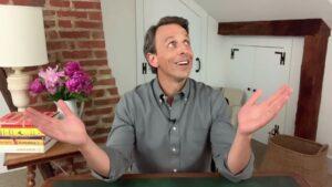 """Gravação do """"Late Night With Seth Meyers"""" com iPad Pro"""