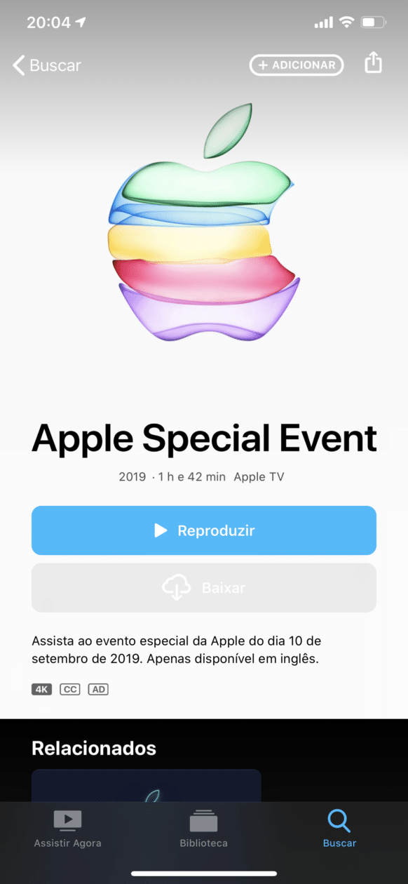 Apple Events no iOS
