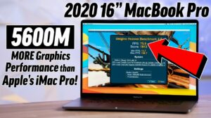 Vídeo benchmark AMD Radeon Pro 5600M