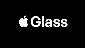 Logo comercial fictícia do Apple Glass