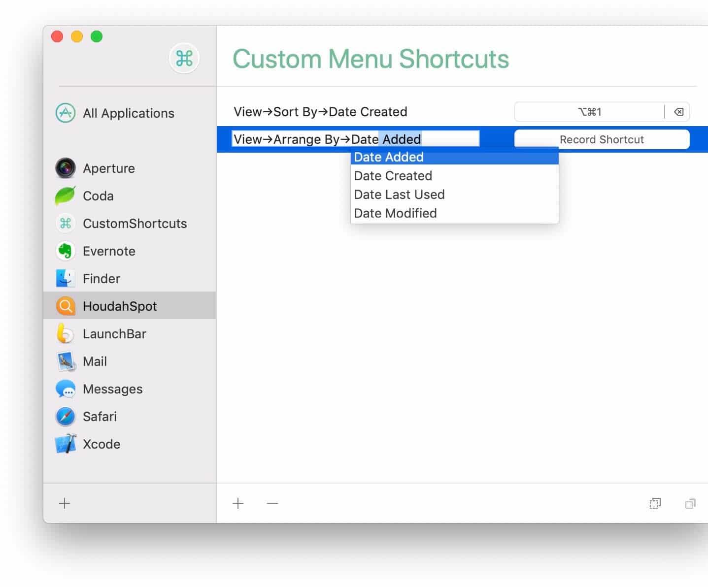 CustomShortcuts para macOS