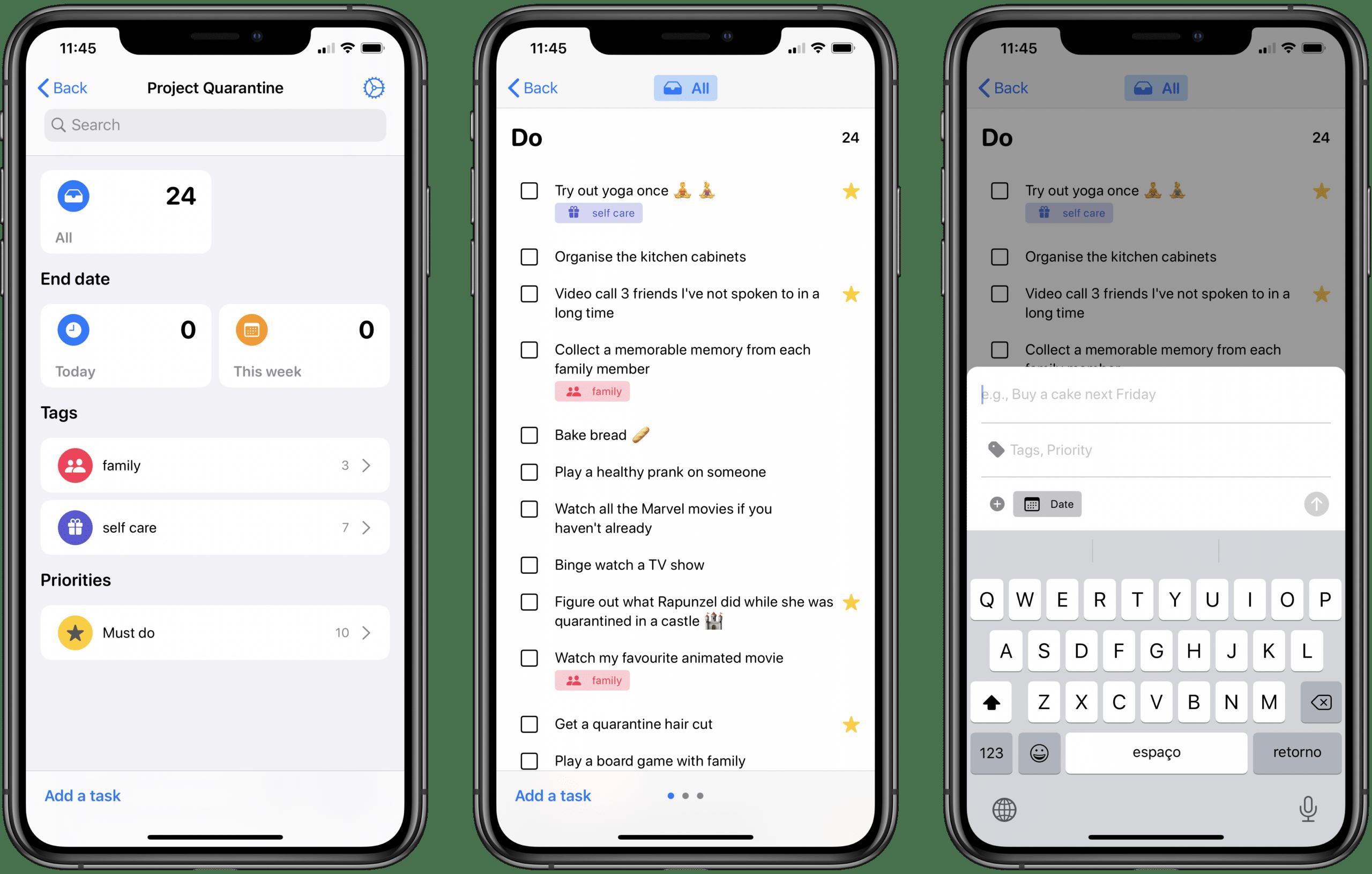 Aplicativo Tasks para iOS
