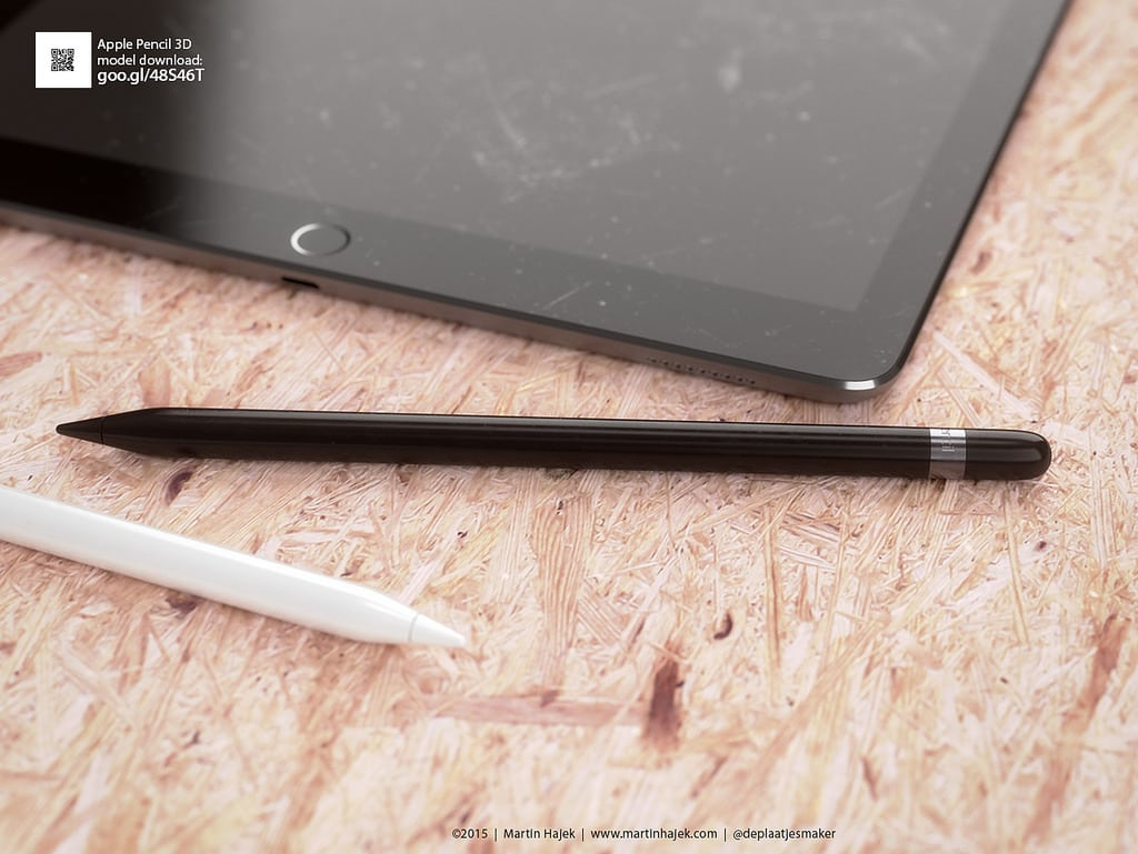 Conceito de Apple Pencil preto
