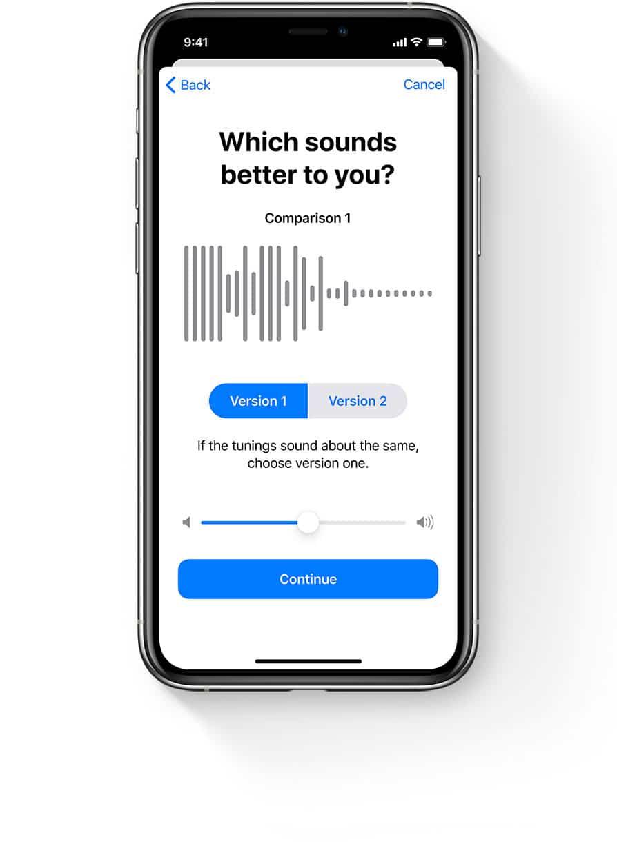Ajuste de áudio dos AirPods