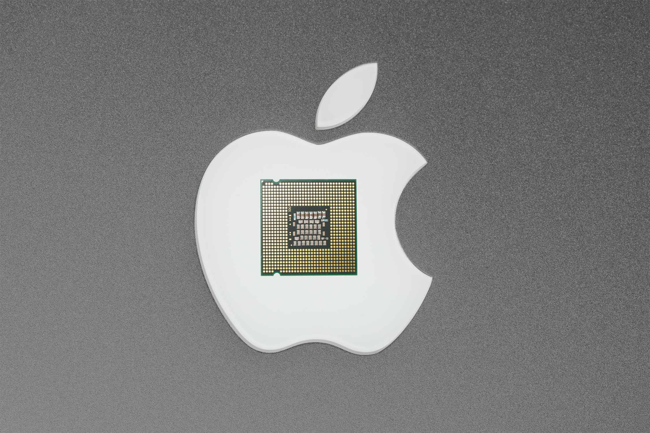 Logo da Apple e chip