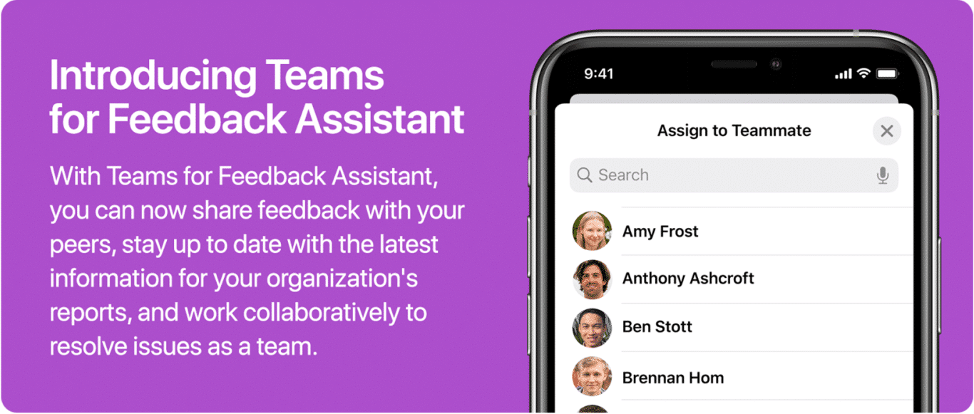 Teams for Feedback Assistant