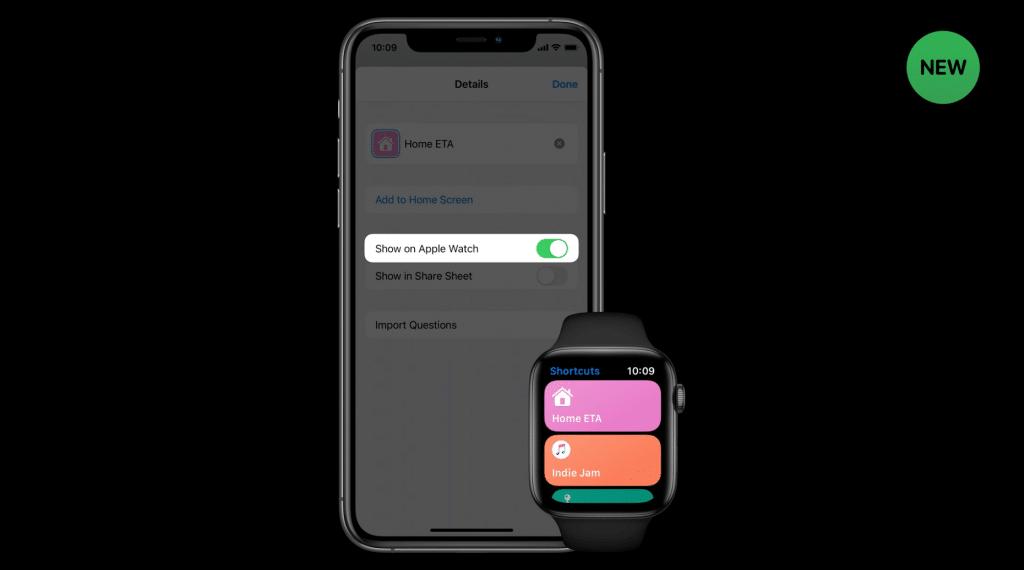 Configurando atalhos no Apple Watch