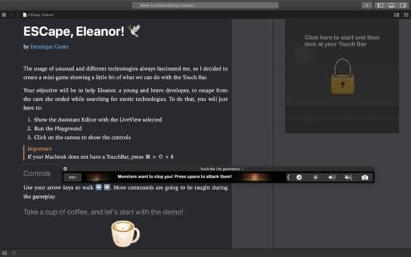 ESCape, Eleanor!, projeto de Henrique Conte vencedor do Swift Student Challenge