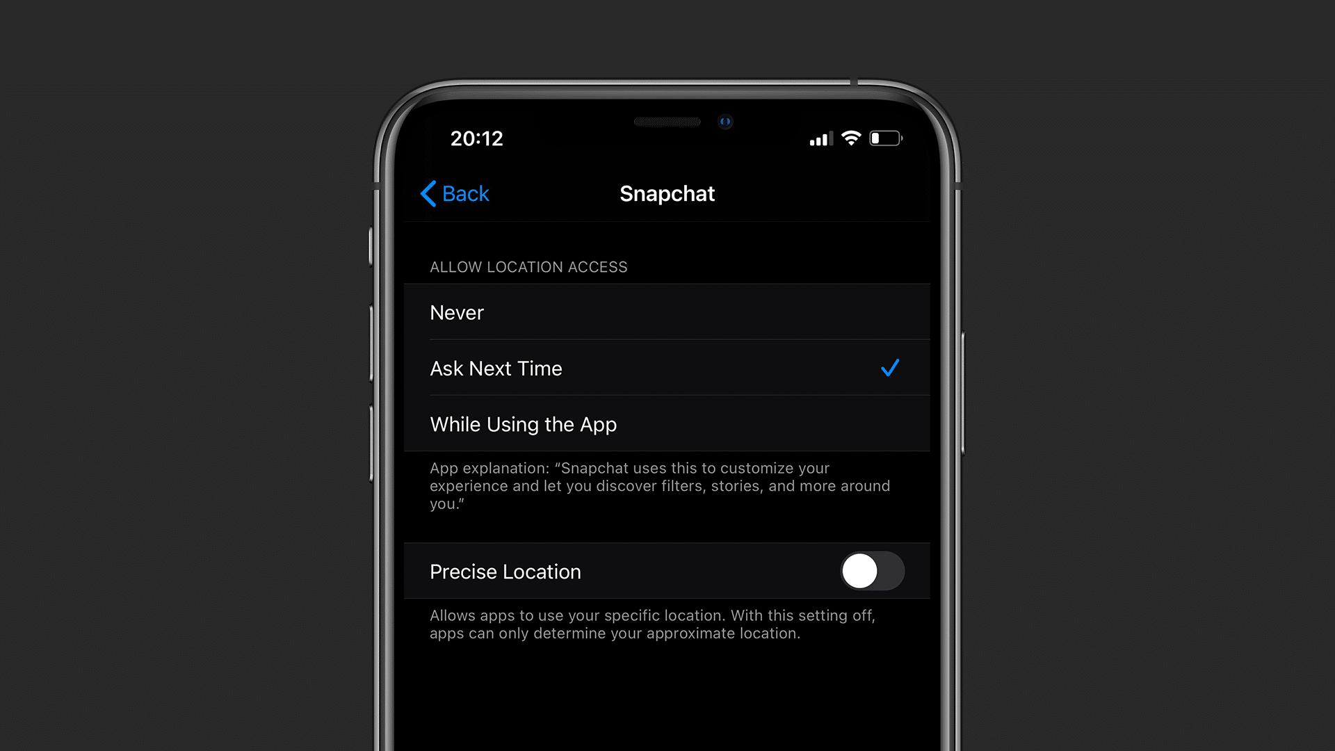 Ajuste de localização precisa no iOS 14