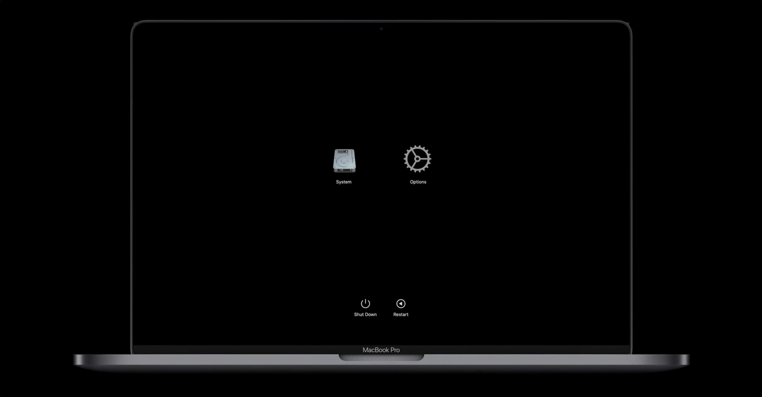 macOS Recovery em Macs com chips da Apple