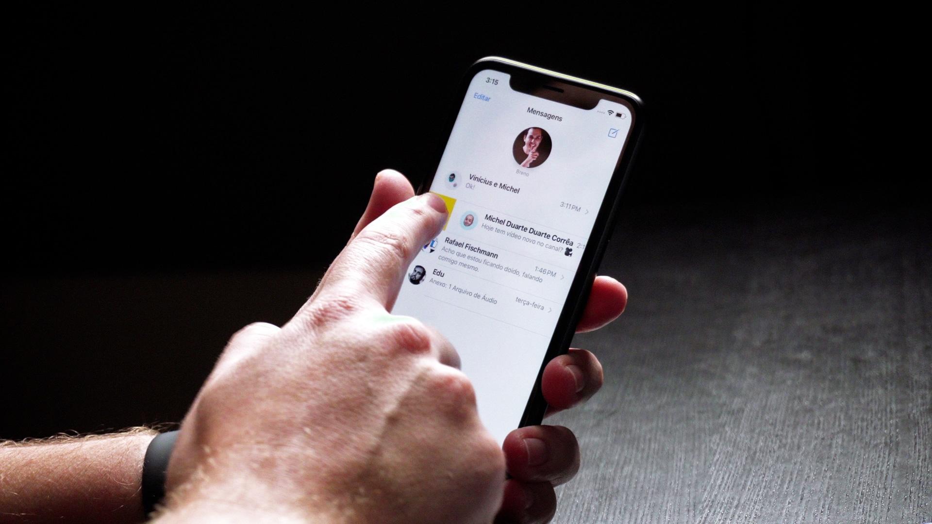 Fixando chat no Mensagens do iPhone