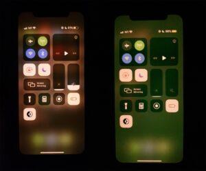 iPhone 11 com bug de tom esverdeado na tela
