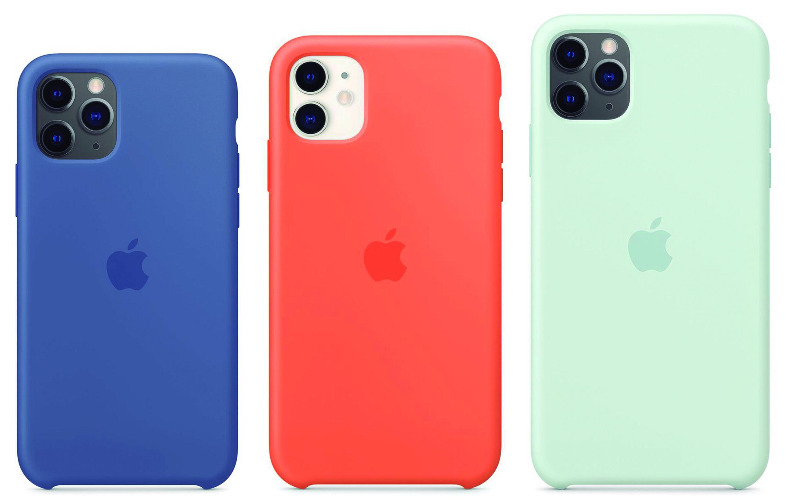 Novas cores da capa de silicone para os iPhones 11, 11 Pro e 11 Pro Max