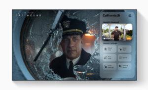 tvOS 14 com tela de Now Playing na Apple TV