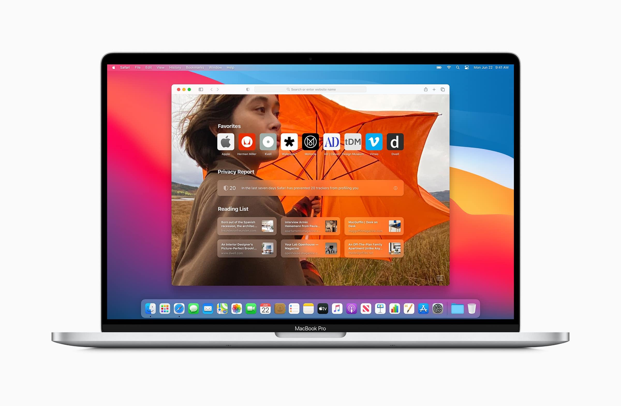 Safari no macOS Big Sur