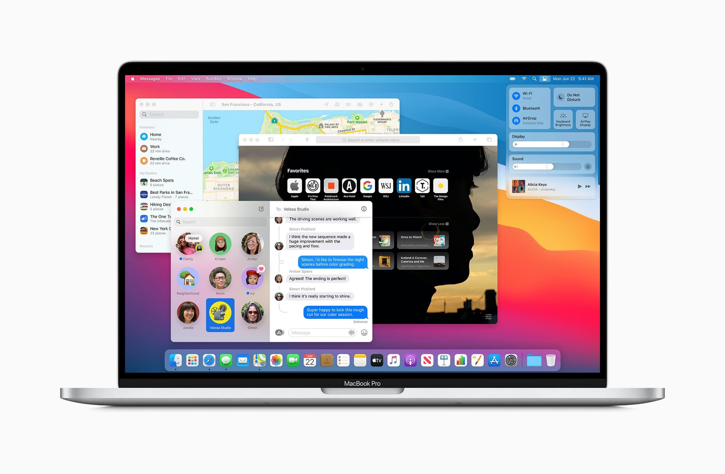 Apps redesenhados no macOS Big Sur