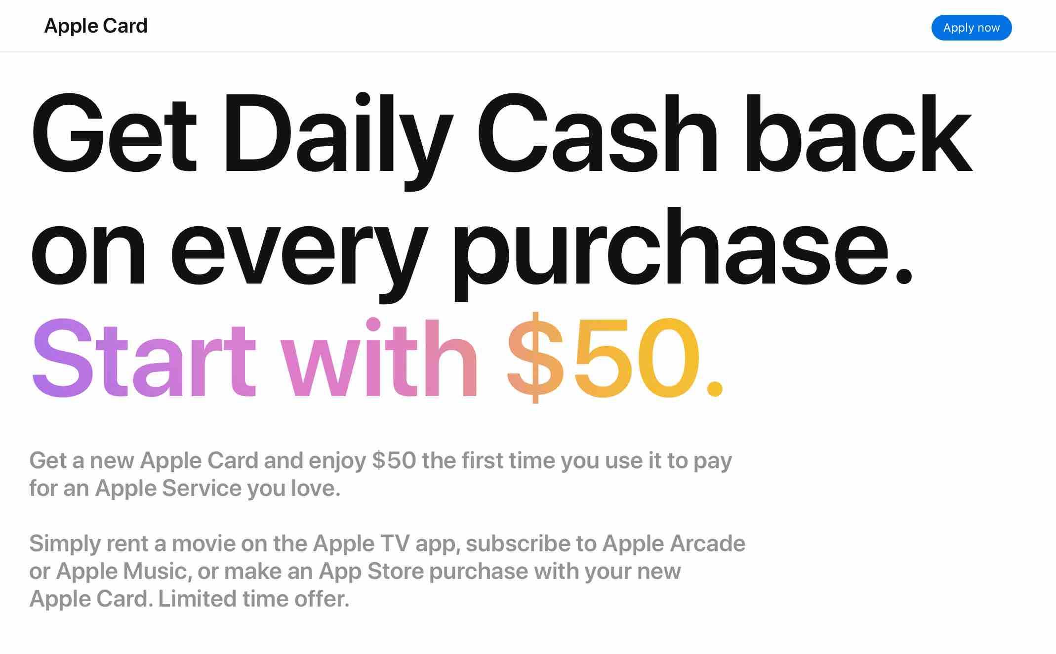 Bônus do Apple Card