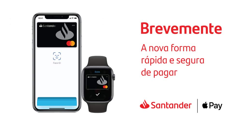Apple Pay chegando ao Santander de Portugal