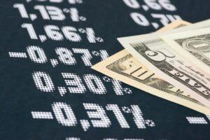 Gráfico e dinheiro