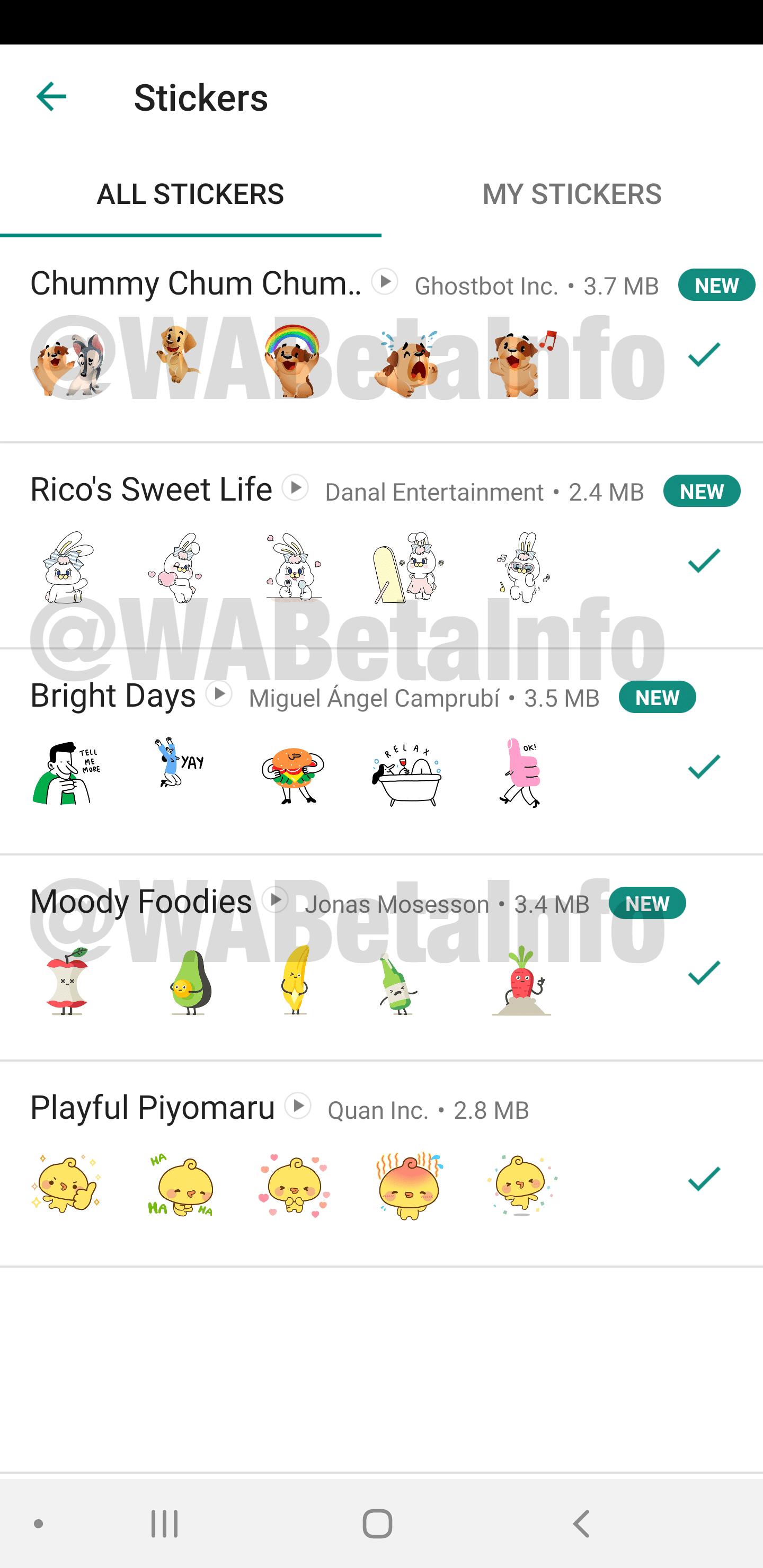 Pacotes figurinhas animadas WhatsApp