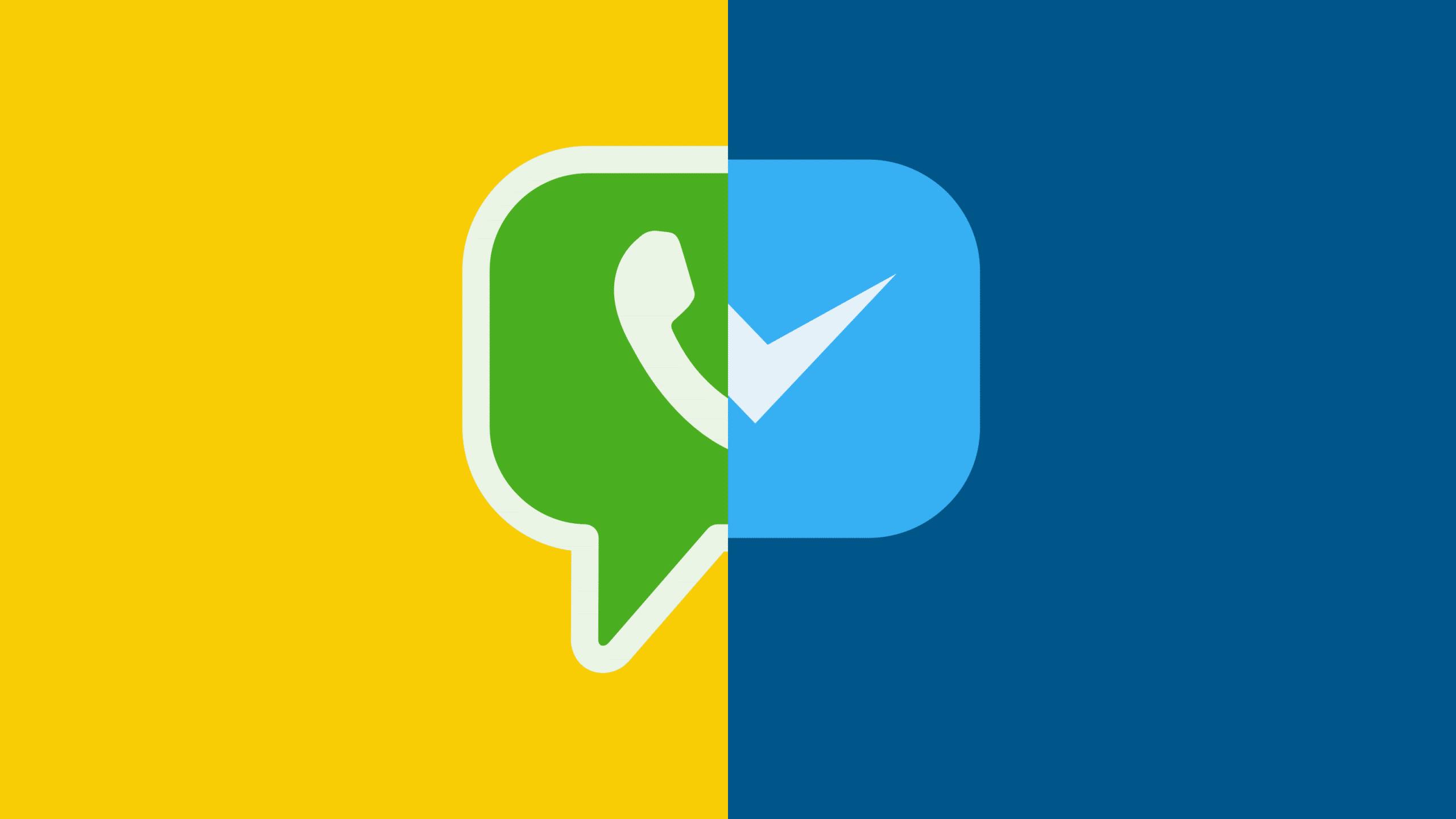 Ícones do WhatsApp e Messenger