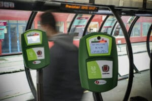 Novos validadores do sistema de transporte coletivo em Curitiba