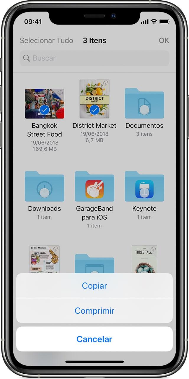 Comprimindo e descomprimindo arquivos ZIP no iOS 13