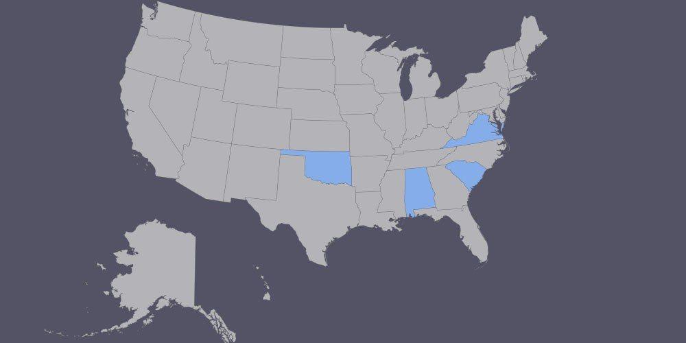 Estados americanos que planejam usar a API da Apple e do Google