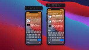 Simulação de tamanho dos iPhones 12