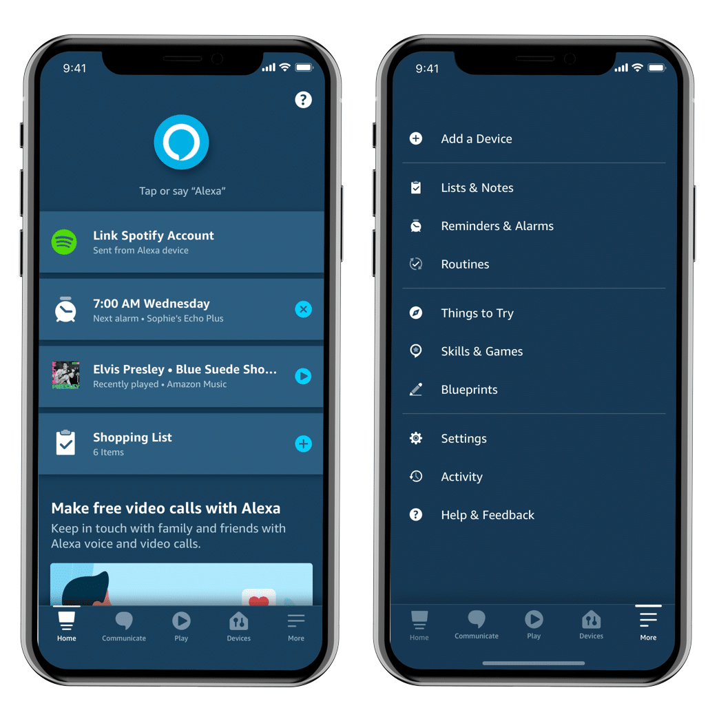 Aplicativo Alexa para iOS