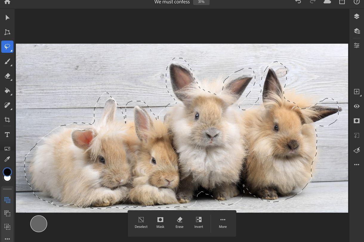 Refine Edge no Photoshop para iPad