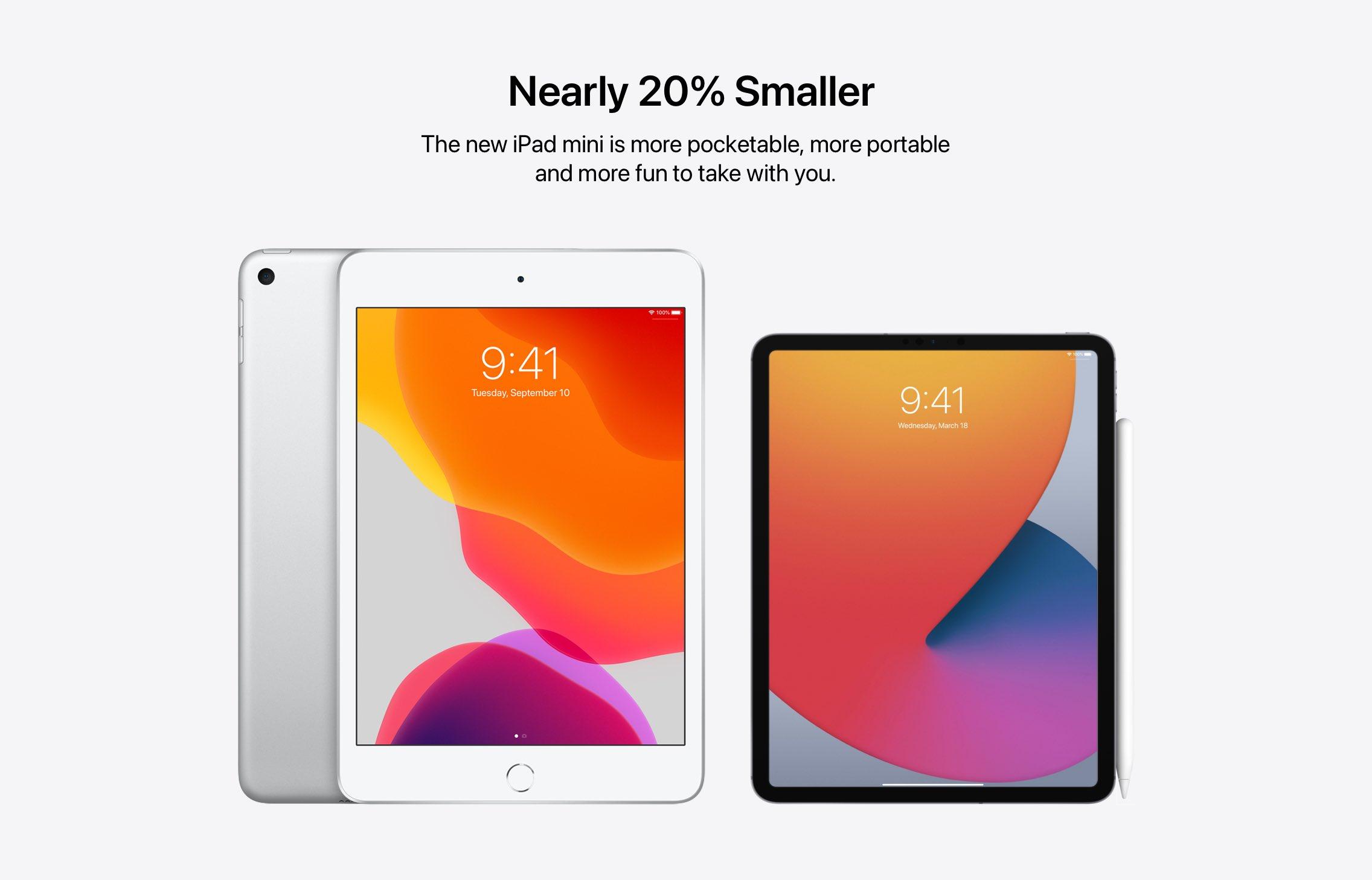 """Comparação do iPad mini e """"iPad Pro mini"""""""