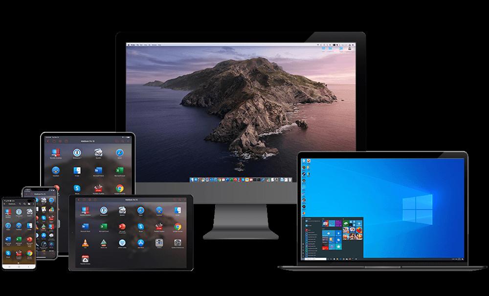 Parallels Access em vários dispositivos