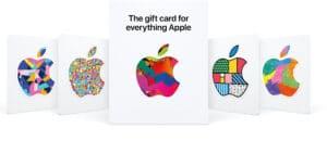 Novos cartões-presente (gift cards) da Apple