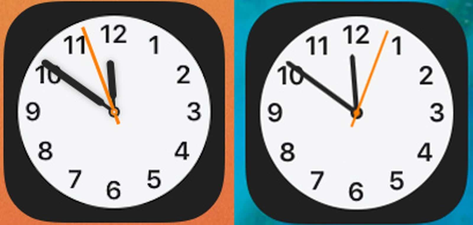 Novo ícone do relógio no iOS 14 beta 2