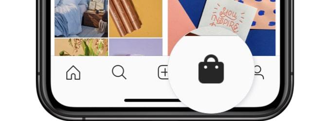 Nova aba de compras no Instagram